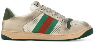 Gucci Virtus Perforated Leather Sneakers