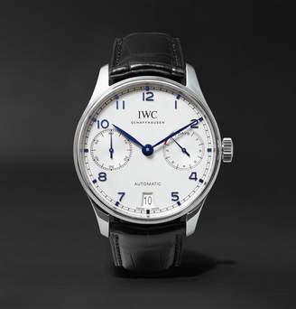 IWC SCHAFFHAUSEN Portugieser Automatic 42.4mm Stainless Steel And Alligator Watch
