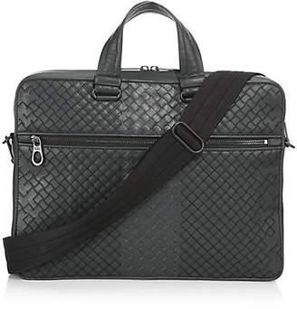 Bottega Veneta Leather Messenger Briefcase