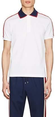 Gucci Men's Logo-Detailed Cotton Piqué Polo Shirt - White