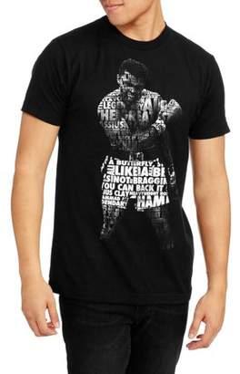 Americana Men's Muhammad Ali Collage Short Sleeve Graphic Tee