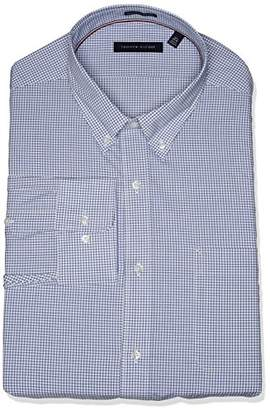 Tommy Hilfiger Men's Non Iron Regular Fit Gingham Buttondown Collar Dress Shirt