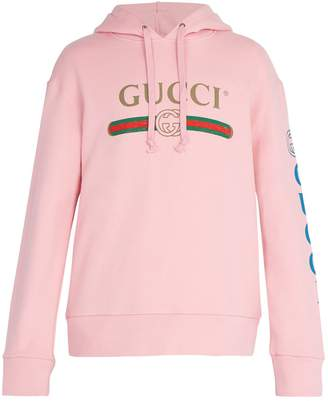 Gucci Logo-print cotton-jersey hooded sweatshirt