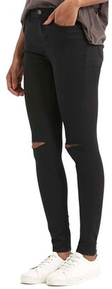 Topshop Moto 'Leigh' Ripped Skinny Jeans $70 thestylecure.com