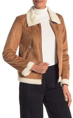 Vero Moda Anais Faux Suede & Shearling Jacket