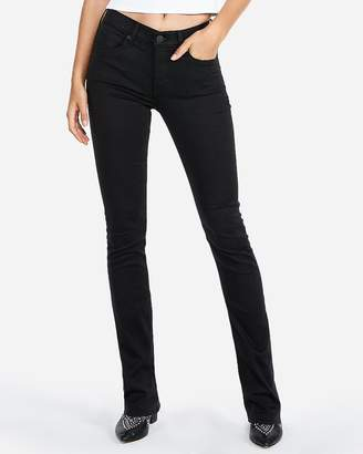 Express Mid Rise Extreme Stretch Black Skyscraper Jeans
