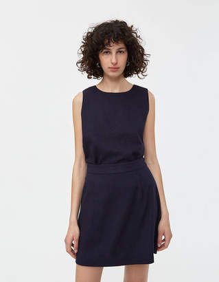 Shein Need Top in Navy Linen