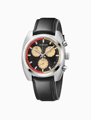 Calvin Klein achieve leather chronograph watch