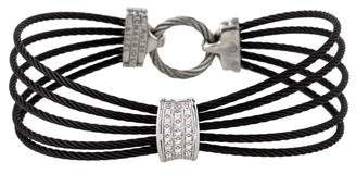 Charriol Diamond Five Cable Bracelet