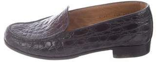 Gravati Embossed Round-Toe Loafers