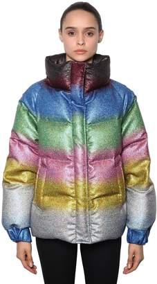 Marco De Vincenzo Glitter Rainbow Puffer Jacket
