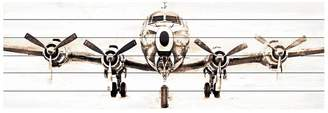 Marmont Hill Inc. Airplane White Pine Wood Wall Art