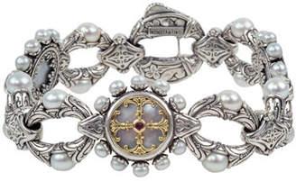 Konstantino Pearl & Etched-Link Bracelet