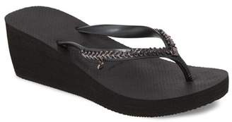 Havaianas High Metal Grega Wedge Flip Flop (Women)