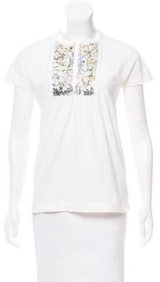 Philosophy di Alberta Ferretti Embellished Short Sleeve Top