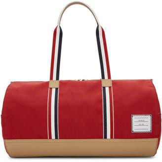 Thom Browne Red Gym Duffle Bag