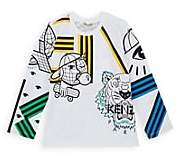 Kenzo Kids' Logo-Print Cotton T-Shirt-White