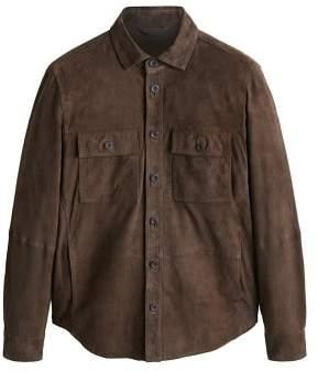 Mango man MANGO MAN Flap-pocket suede jacket
