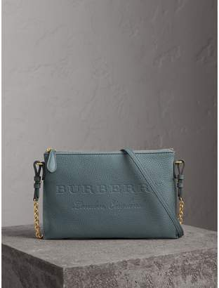 Burberry Embossed Leather Clutch Bag