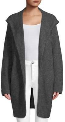Inhabit Hooded Open-Front Coat