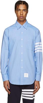 Thom Browne Blue Classic 4 Bar Shirt $570 thestylecure.com