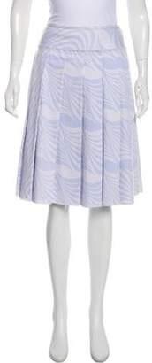 Prada Pleated Knee-Length Skirt