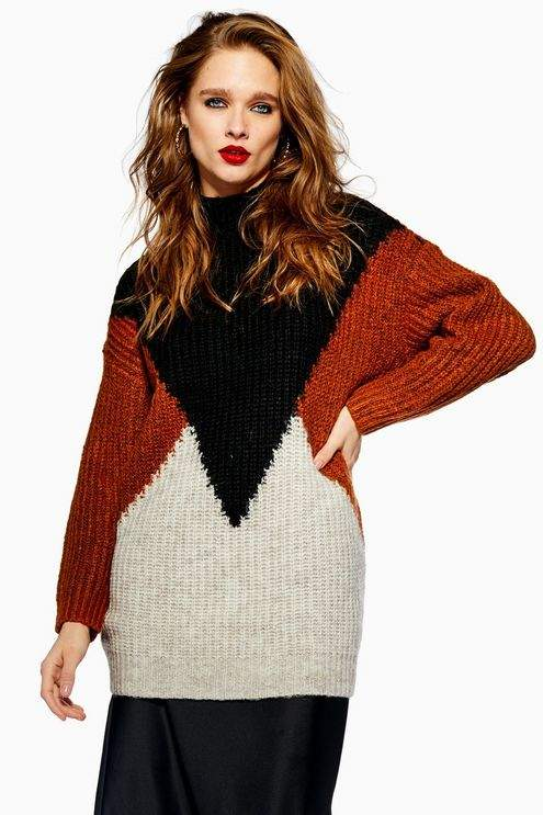 **Colour Block Jumper by YAS