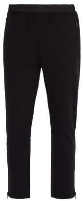 Prada Zip Hem Jersey Track Pants - Mens - Black
