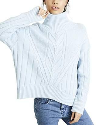 652f5e839b4b NEVEREVEN Women's Chunky Cable Knit Turtleneck Sweater
