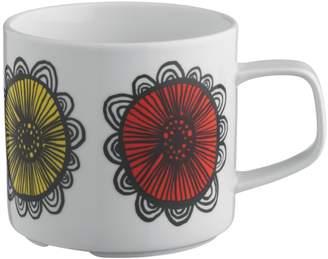 Freda White floral mug