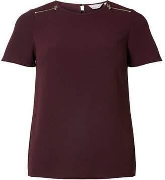 Dorothy Perkins Womens Petite Burgundy Soft T-Shirt