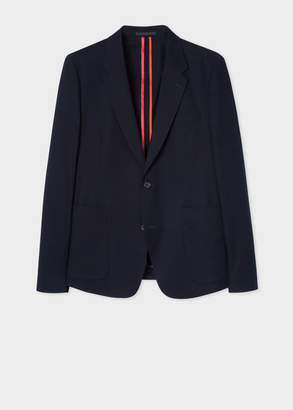 Paul Smith Men's Mid-Fit Navy Unlined Stretch-Cotton Blazer