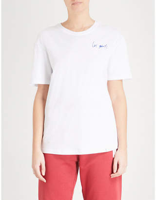 LES GIRLS LES BOYS Logo-print cotton-jersey T-shirt