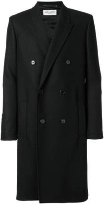 Saint Laurent belted double breasted coat