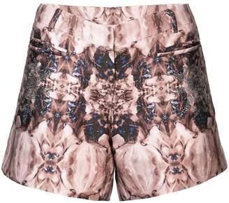 Thomas Wylde printed short shorts
