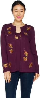 Factory Quacker Autumn Leaves Long Sleeve Knit Duet Set