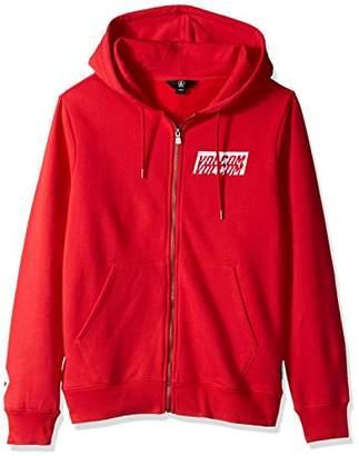 Volcom Men's Supply Stone Zip up Fleece Hoodie