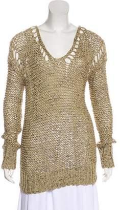 Skaist-Taylor Long Sleeve Crocheted Sweater w/ Tags