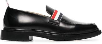 77da633d925 Thom Browne black web strap leather loafers