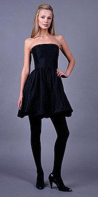 Strapless Black Metallic Bubble Dresses by Shoshanna