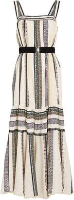 Derek Lam Lace Inset Striped Tank Dress