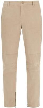ATM Zipped-hem slim-leg corduroy trousers