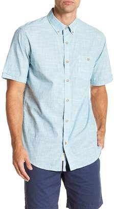 Weatherproof Short Sleeve Front Button Regular Fit Woven Shirt