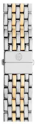 Michele Deco 18mm Two-Tone Bracelet Watchband