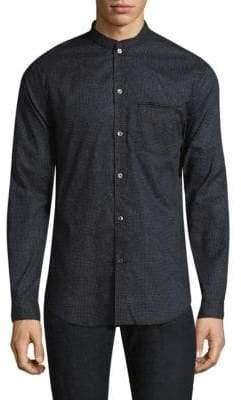 John Varvatos Polka Dots Slim-Fit Button-Down Shirt