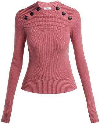 Etoile Isabel Marant Koyle buttoned cotton and wool-blend sweater