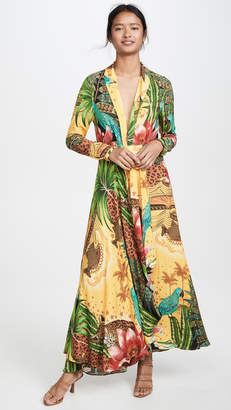 FARM Rio Tropical Dreams V Neck Maxi Dress
