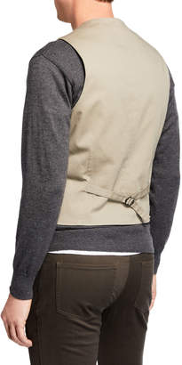 Joe's Jeans Men's Cotton Vest, Khaki