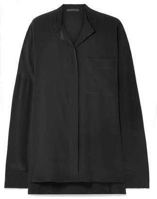 Haider Ackermann Oversized Washed-silk Shirt - Black