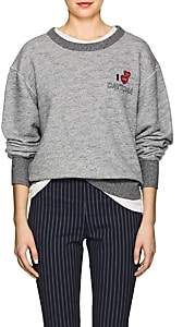 "Rag & Bone Women's ""Daytona"" Cotton Terry Sweatshirt - Gray"